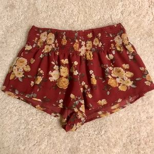 Forever 21 Floral Flowy Shorts